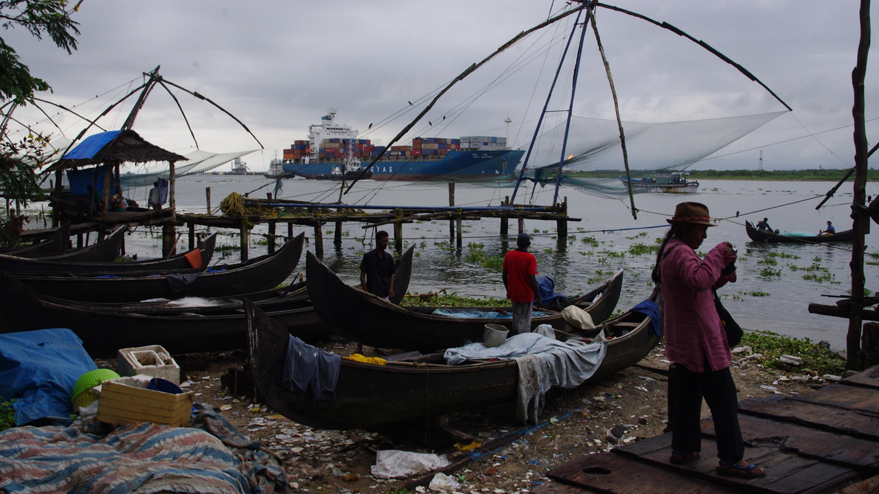 Chinese fishing nets, Fort Kochi (Kerala)